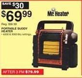 Dunhams Sports Black Friday: Mr. Heater Portable Buddy Heater for $69.99