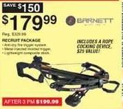 Dunhams Sports Black Friday: Barnett Recruit Crossbow Package for $179.99