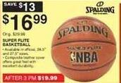 Dunhams Sports Black Friday: Spalding Super Flite Basketball for $16.99