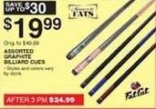 Dunhams Sports Black Friday: Minnesota Fats Fat Cat Graphite Billiard Cues for $19.99
