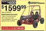 Dunhams Sports Black Friday: American Sportworks Marauder Go-Kart for $1,599.99
