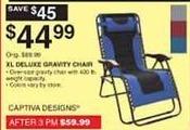 Dunhams Sports Black Friday: Captiva Designs XL Deluxe Gravity Chair for $44.99