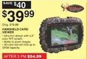 """Dunhams Sports Black Friday: Wildgame Innovations 4.3"""" Handheld Card Viewer for $39.99"""