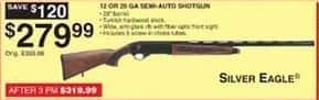 Dunhams Sports Black Friday: Silver Eagle 12 or 20 Gauge Semi-Automatic Shotgun for $279.99