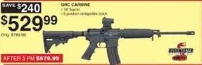 Dunhams Sports Black Friday: Bushmaster QRC Quick Response Carbine Semiautomatic Tactical Rifle for $529.99