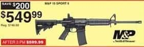 Dunhams Sports Black Friday: Smith & Wesson M&P 15 Sport II Semiautomatic Tactical Rifle for $549.99