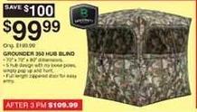 Dunhams Sports Black Friday: Barronett Grounder 250 Hub Blind for $99.99
