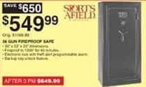 Dunhams Sports Black Friday: Sports Afield 36 Gun Fireproof Safe for $549.99