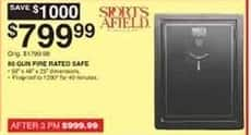Dunhams Sports Black Friday: Sports Afield 80 Gun Fire Rated Safe for $799.99