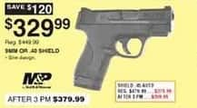 Dunhams Sports Black Friday: Smith & Wesson M&P 9mm or .40 Shield Pistol for $329.99