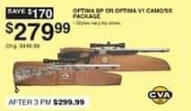 Dunhams Sports Black Friday: CVA Optima BP or V1 Camo/SS Package for $279.99