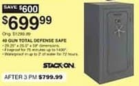 Dunhams Sports Black Friday: Stack-On 40 Gun Total Defense Safe for $699.99