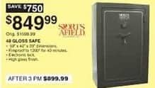 Dunhams Sports Black Friday: Sports Afield 48 High Gloss Gun Safe for $849.99