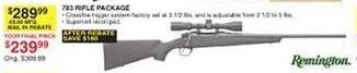 Dunhams Sports Black Friday: Remington 783 Rifle Package for $239.99 after $50.00 rebate