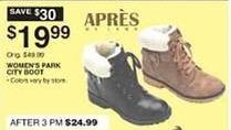 Dunhams Sports Black Friday: Apres Women's Park City Boot for $19.99