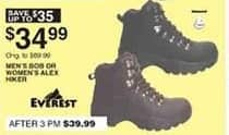 Dunhams Sports Black Friday: Everest Bob Men's or Alex Women's Hiker for $34.99