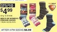 Dunhams Sports Black Friday: Fireside Men's or Women's Socks for $4.99