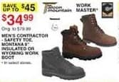 """Dunhams Sports Black Friday: Men's Contractor Safety Toe, Montana 8"""" Insulated or Wyoming Work Boot for $34.99"""