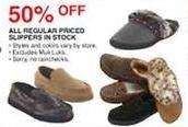 Dunhams Sports Black Friday: All Regular Priced In Stock Slippers - 50% Off