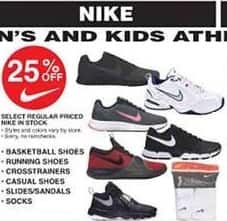 Dunhams Sports Black Friday: Select Regular Priced Nike In Stock Men's, Women's and Kids' Shoes and Socks - 25% Off