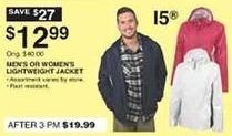 Dunhams Sports Black Friday: 15 Brand Men's or Women's Lightweight Jacket for $12.99