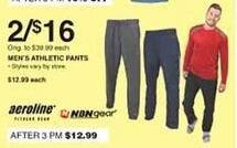 Dunhams Sports Black Friday: (2) Aeroline or NBNgear Men's Athletic Pants for $16.00