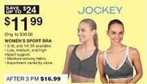 Dunhams Sports Black Friday: Jockey Women's Sports Bra for $11.99