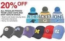 Dunhams Sports Black Friday: All Regular Priced In Stock Team Logo Caps and Knit Hats - 20% Off