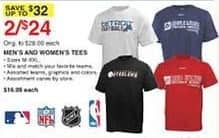 Dunhams Sports Black Friday: (2) Men's or Women's Team Logo Tees for $24.00