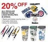 Dunhams Sports Black Friday: All Regular Priced In Stock Team Logo Novelties - 20% Off