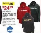 Dunhams Sports Black Friday: NCAA Men's Polyester Fleece Hood or Pants for $24.99