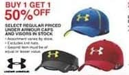 Dunhams Sports Black Friday: Under Armour Caps and Visors, Select Styles - B1G1 50% Off