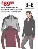 Dunhams Sports Black Friday: Under Armour Men's or Women's Expanse 1/4-Zip Fleece for $89.99