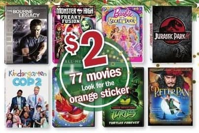 Meijer Black Friday: Select Movies: The Bourne Legacy, Kindergarten Cop 2 & More for $2.00