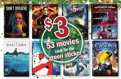 Meijer Black Friday: Select Movies: Don't Breathe, Pixels, Divergent & More for $3.00
