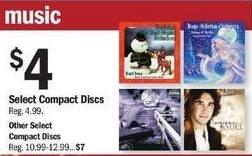 Meijer Black Friday: Select CDs: The Slim Shady LP, Josh Groban Noel & More for $4.00