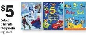 Meijer Black Friday: 5 Minute Storybooks, Select Characters for $5.00