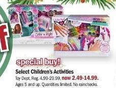 Meijer Black Friday: Select Children's Activities for $2.49 - $14.99