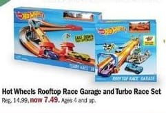 Meijer Black Friday: Hot Wheels Rooftop Race Garage and Turbo Race Set for $7.49
