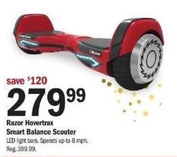 Meijer Black Friday: Razor Hovertrax Smart Balance Scooter for $279.99