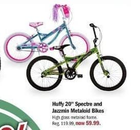 "Meijer Black Friday: Huffy 20"" Spectre and Jazzmin Metaloid Bikes for $59.99"
