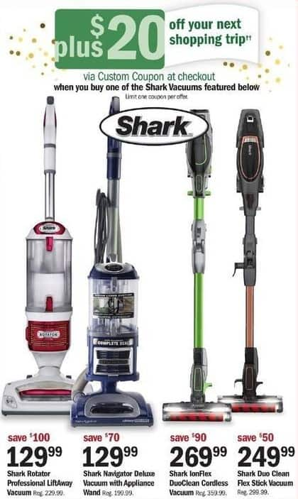 Meijer Black Friday: Shark Navigator Deluxe Vacuum w/ Appliance Wand + $20 Custom Coupon for $129.99