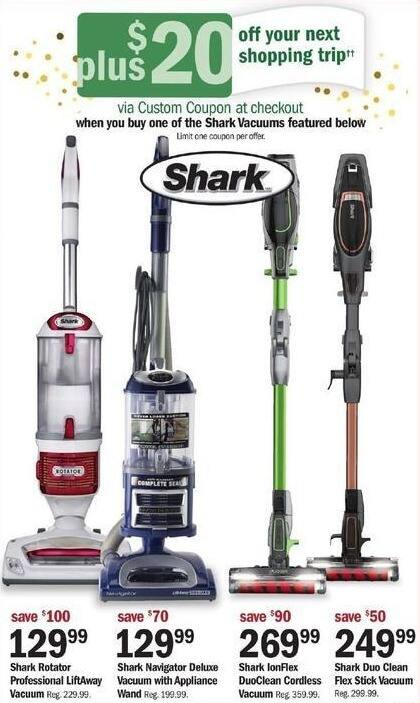 Meijer Black Friday: Shark Duo Clean Flex Stick Vacuum + $20 Custom Coupon for $249.99
