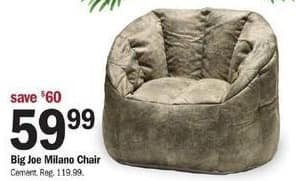 Meijer Black Friday: Big Joe Milano Chair for $59.99