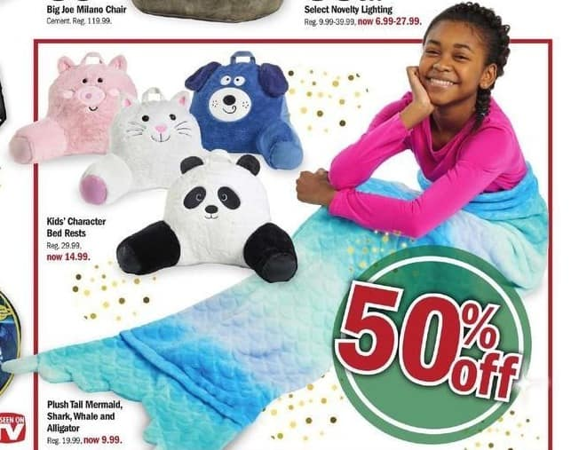 Meijer Black Friday: Kids' Character Bed Rests for $14.99