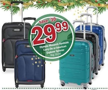 Meijer Black Friday: Olympia Monarch Hardside Carry-On or American Explorer Spinner for $29.99