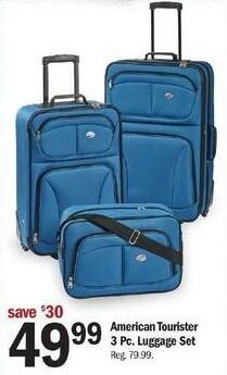 Meijer Black Friday: American Tourister 3-pc Luggage Set for $49.99