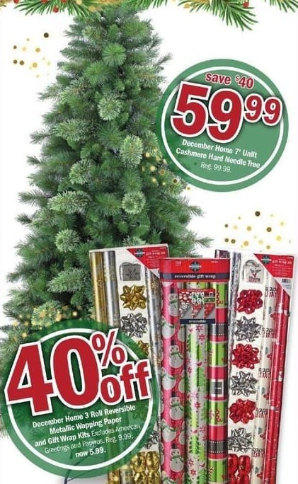 Meijer Black Friday: December Home 7-Ft Unlit Cashmere Hard Needle Tree for $59.99