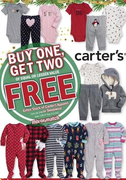 Meijer Black Friday: Entire Stock Carter's Apparel or Sleepwear - B1G2 Free