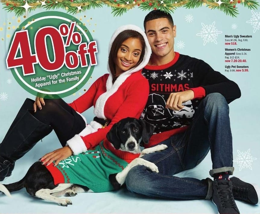 Meijer Black Friday: Ugly Pet Sweaters for $5.99